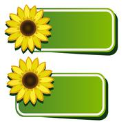 Stock Illustration of vector stickers and sunflower