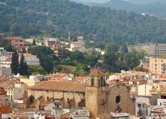 Top view of Alpen town. Tossa de Mar, Spain Stock Photos