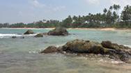 Stock Video Footage of Tropical coastline ,