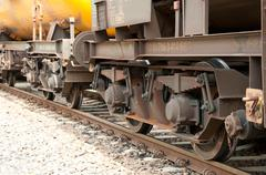 Chassis of a freight train Stock Photos