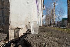 Glass of vodka in spring Stock Photos