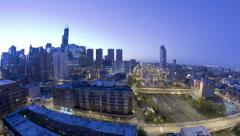 Chicago Time-lapse from night to day - stock footage