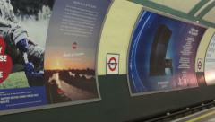 London tube train arriving - stock footage