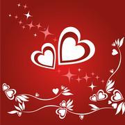 Stock Illustration of saint valentine's day card