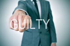 guilty - stock illustration