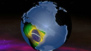 Stock Video Footage of 4K Brazil Globe Zoom In v2 1