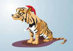 Year of the Tiger. 12 Zodiac Animals. Vector illustration Stock Illustration