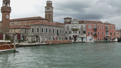 0317 Murano venice canal inside the town island Stock Footage