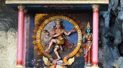 Kuala Lumpur Limestone Cave Batu Caves Hindu Hindus Goddess Malaysia Asia - stock footage