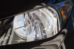 black headlight - stock photo
