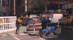 Citibike Problem in New York City - stock footage