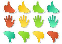 Stock Illustration of hands expressions stickers