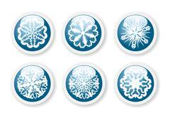 Stock Illustration of christmas snowflake stickers