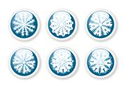 Stock Illustration of christmas snowflake stickers