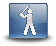 icon, button, pictogram baseball - stock illustration