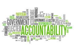 "word cloud ""accountability"" - stock illustration"