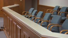 Empty Jury Box Stock Footage