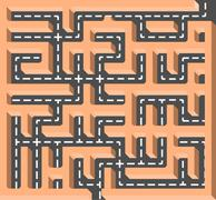 Stock Illustration of road labyrinth