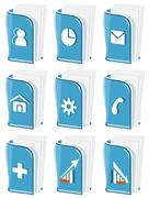glass business icons - stock illustration