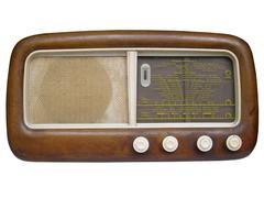Stock Photo of Old AM radio tuner