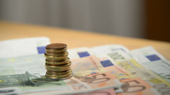 Euro Money Stock Footage