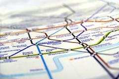Tube map of London underground Stock Photos