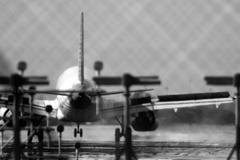 Airplane telephoto Stock Photos