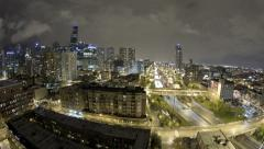 Chicago Time-lapse city and nighttime Stock Footage
