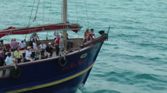 Thailand Ko Samui Island 095 medium shot of a passing sailing ship Stock Footage