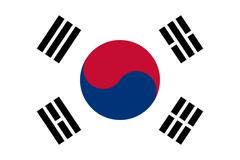The national flag of South Korea Stock Illustration