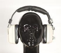 headphones mannequin - stock photo