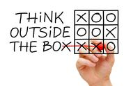 Stock Illustration of think outside the box tic tac toe concept