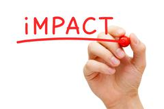 Stock Illustration of impact red marker