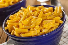 homemade macaroni and cheese - stock photo