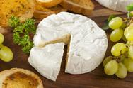 Stock Photo of organic homemade white brie cheese