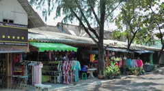 Thailand Ko Samui Island 049 gift shop near Wat Phra Yai temple Stock Footage