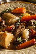 homemade irish beef stew - stock photo