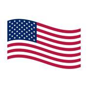 flag of united states - stock illustration
