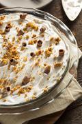 Homemade chocolate cream pie Stock Photos