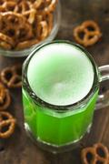Green beer for st. patrick's day Stock Photos