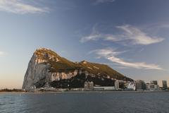 Rock of gibraltar coast spain mediterranean Stock Photos