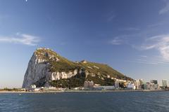 Stock Photo of rock of gibraltar coast spain mediterranean