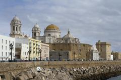 cadiz cathedral - stock photo