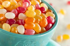 multi colored jelly bean candy - stock photo