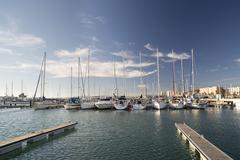 la linia port spain gibraltar - stock photo