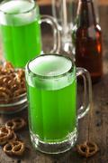 green beer for st. patrick's day - stock photo