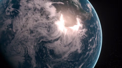 The earth spinning on its axis Stock Footage