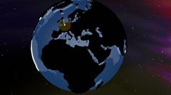 Belgium Globe Zoom In v2 1 Stock Footage