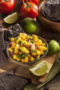 fresh homemade mango salsa - stock photo