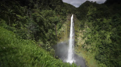 View of Akaka Falls on the big island of Hawaii Stock Footage